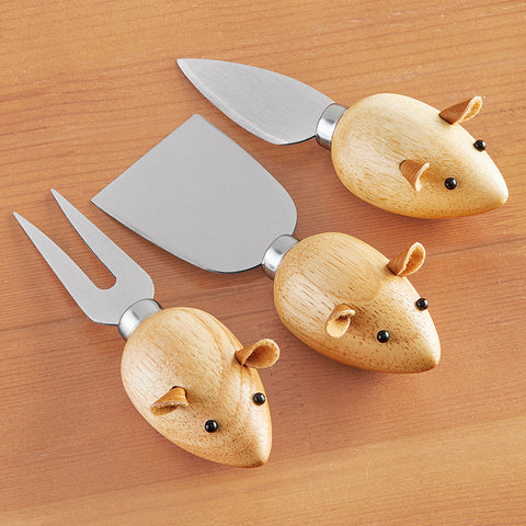 Kikkerland 3 Blind Mice Cheese Knives