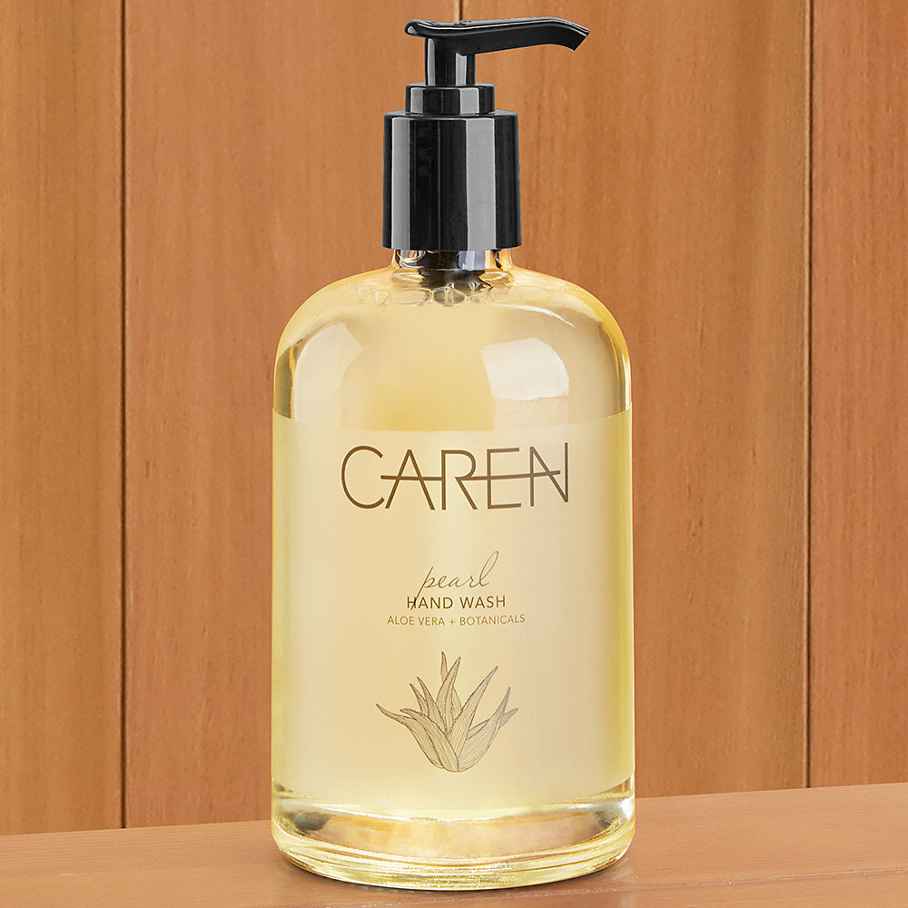 Caren Hand Lotion and Liquid Soap, Pearl