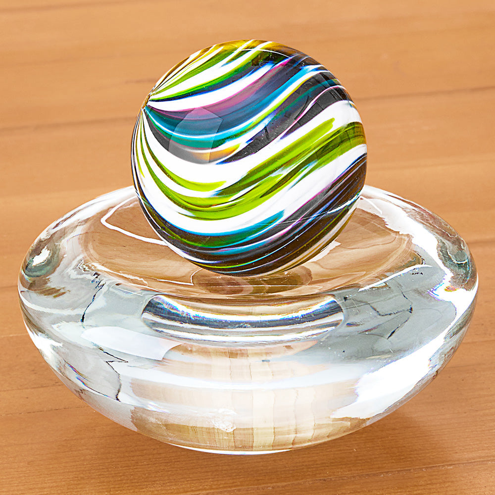Michael Trimpol Glass Marble with Stand