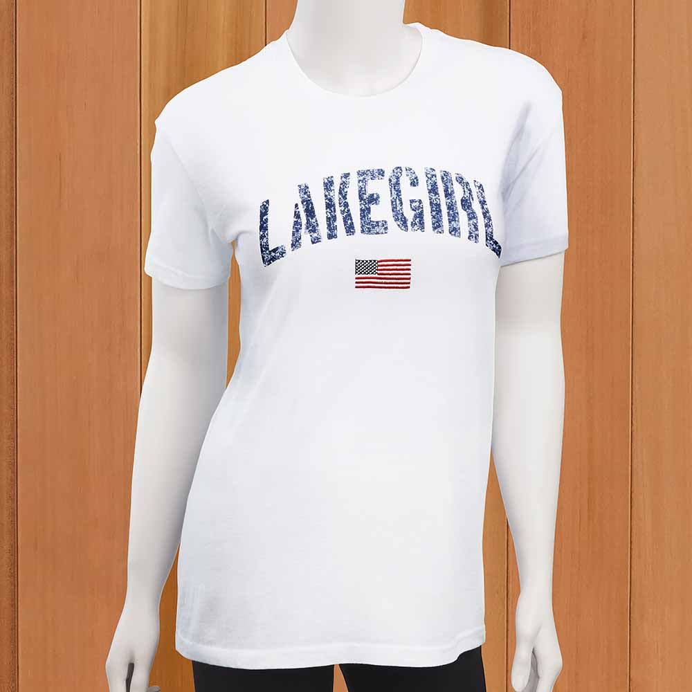 Lakegirl Women's Relaxed Flag Tee