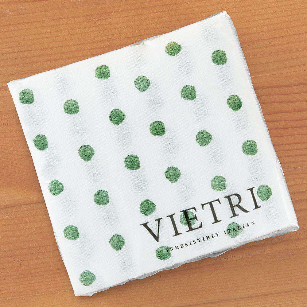 Vietri Papersoft Napkins, Green Dot