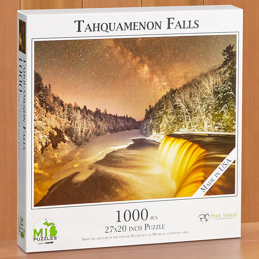 "1,000 Piece Jigsaw Puzzle, ""Tahquamenon Falls"" by Phil Stagg"