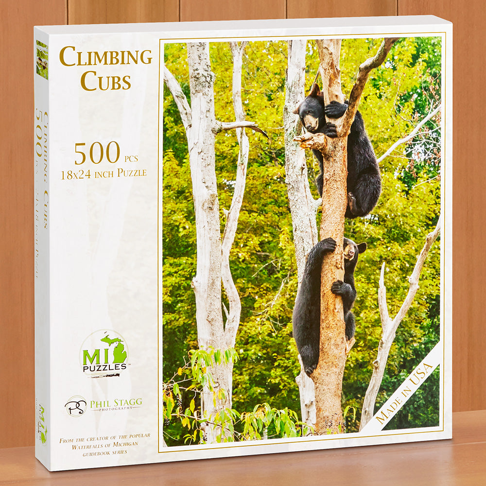 "500 Piece Jigsaw Puzzle, ""Climbing Cubs"" by Phil Stagg"