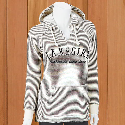 "Lakegirl Women's Striped ""Weekender"" Hoodie"