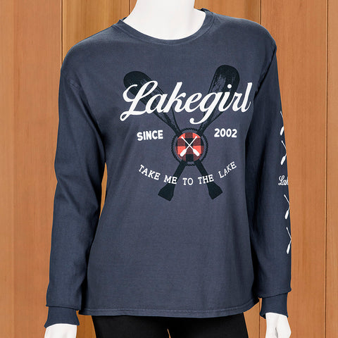 "Lakegirl Women's ""Take Me to the Lake"" Long Sleeve Tee"