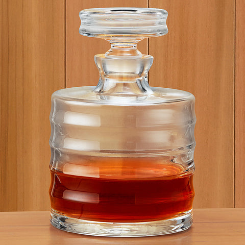 Ribbed Handblown Glass Decanter