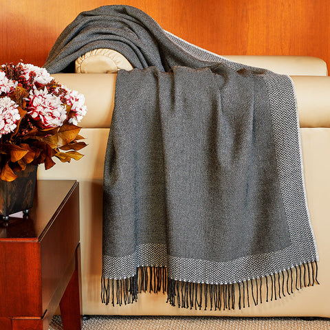 Fibre by Auskin Woven Baby Alpaca Throw, Darcy