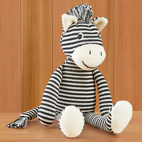 Knit Zebra Plush Toy