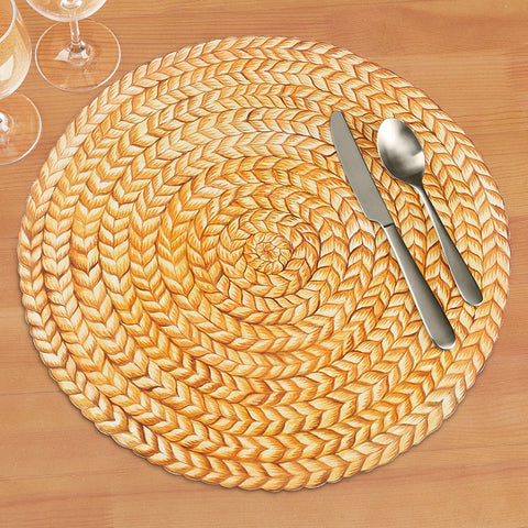 Hester & Cook Paper Placemats, Braided Jute