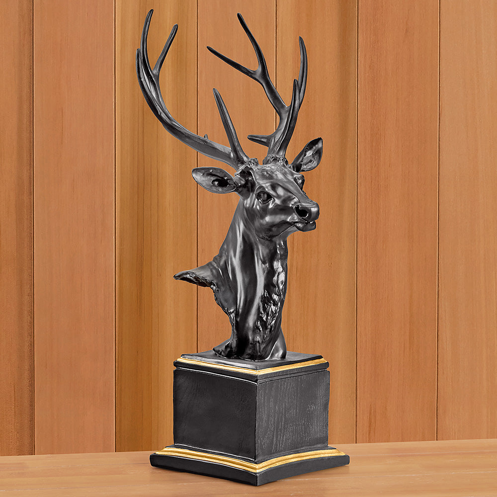 Resin Deer Bust Sculpture