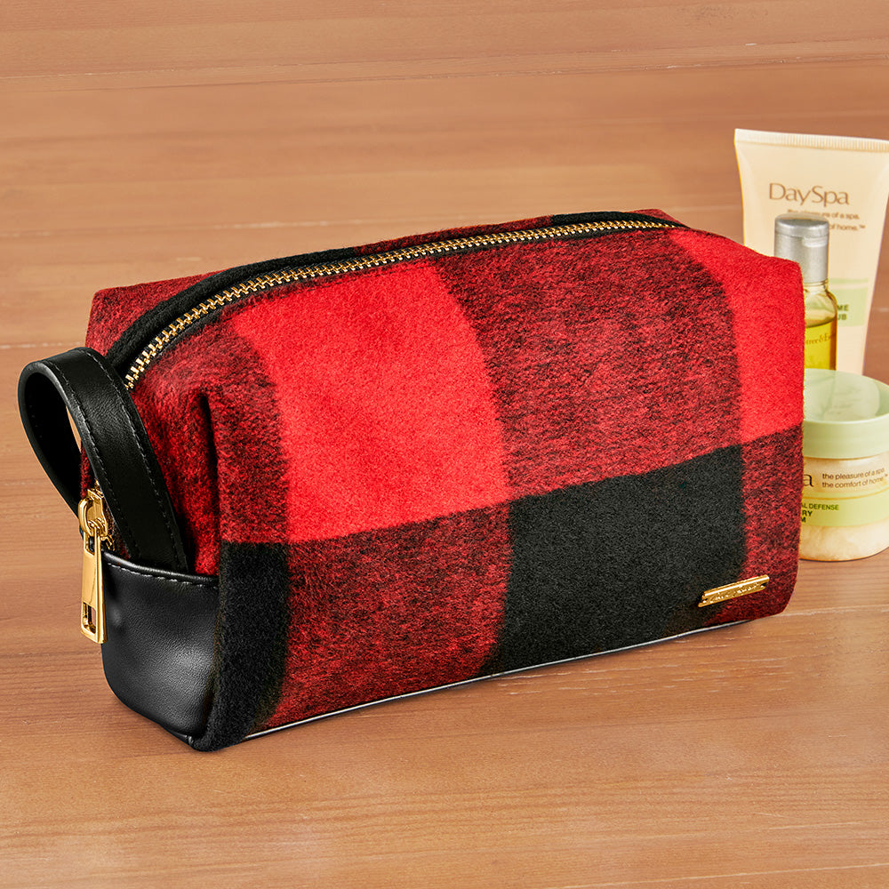 Charlie Paige Plaid Travel Pouch Toiletry Bag