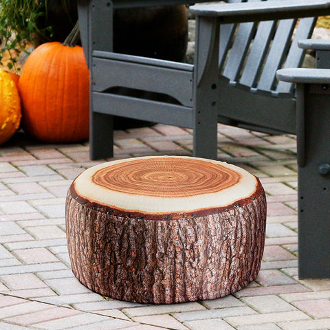 Inflatable Outdoor Tree Trunk Pouf