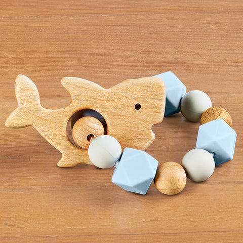 Stephen Joseph Silicone and Wood Baby Teethers