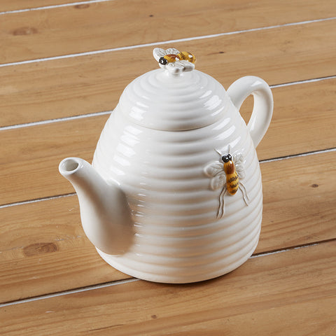 Bee Ceramic Tea Pot by Mary Lake-Thompson