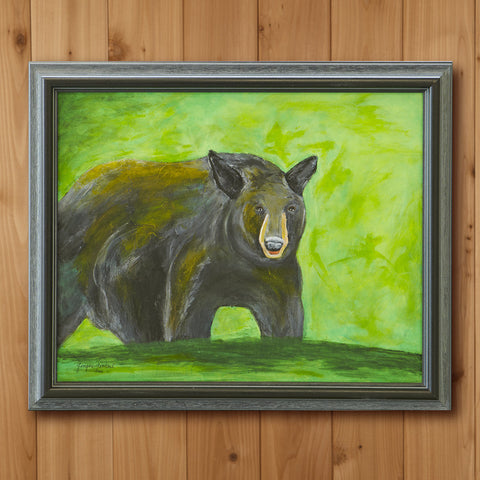 """Bear"" Original Oil Painting by Ginger Zickert"