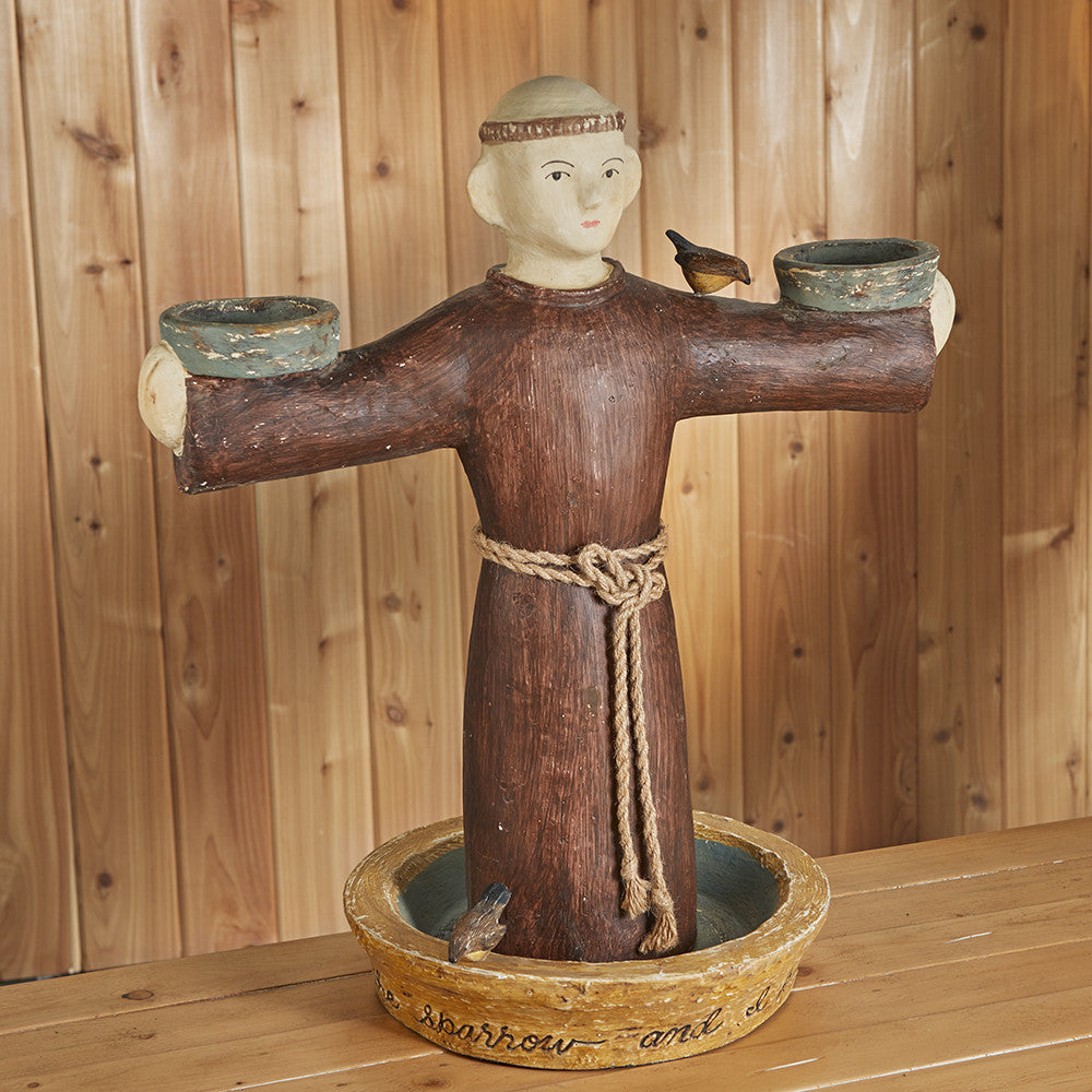 Carved Wooden St. Francis Figurine