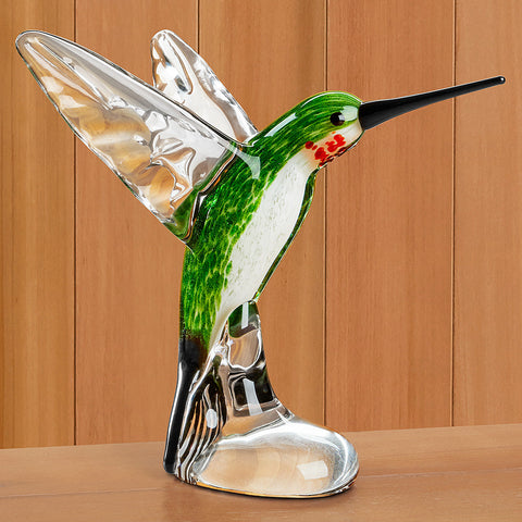 Dynasty Gallery Glass Figurine - Hummingbird - Large