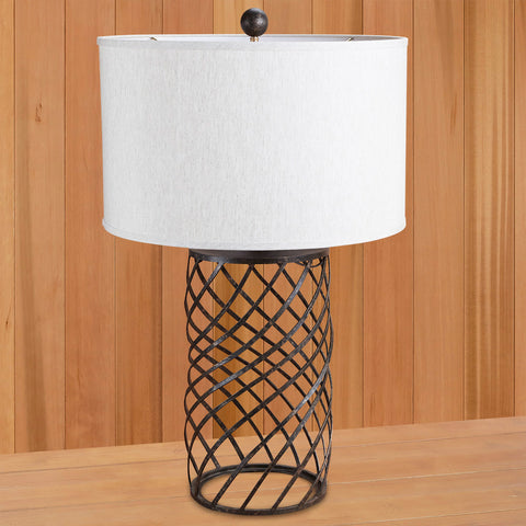 Dashiell Wrought Iron Swirl Table Lamp