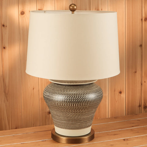 Etched Table Lamp