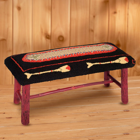 "Chandler 4 Corners 32"" Hickory Bench, Canoe"