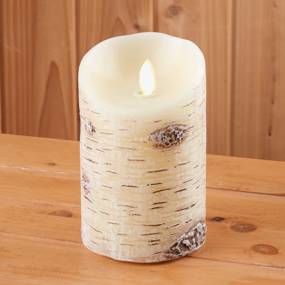Luminara Flameless Birch Pillar Candle