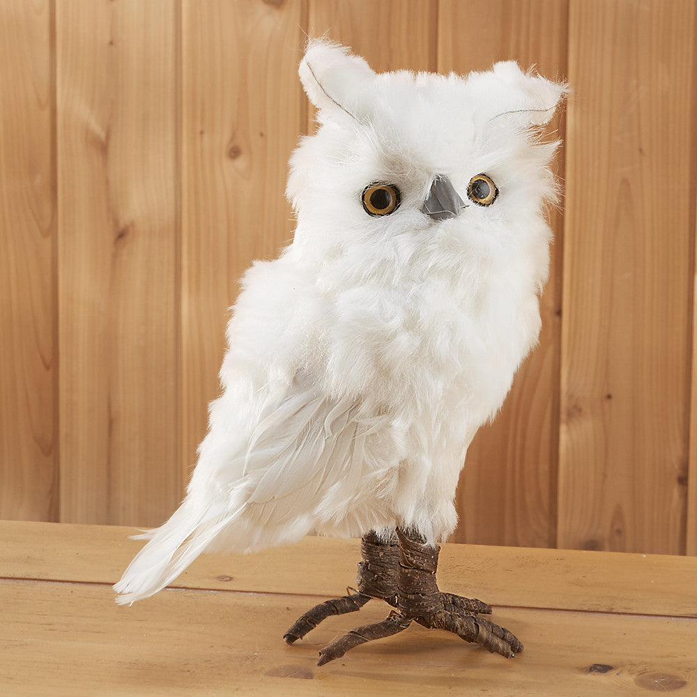 White Feather Owl Figurine