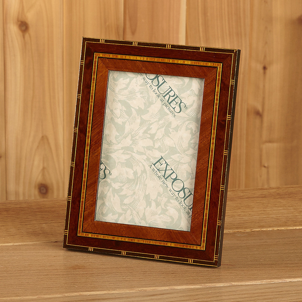 Wood Inlay Marquetry Picture Frame - Rosa