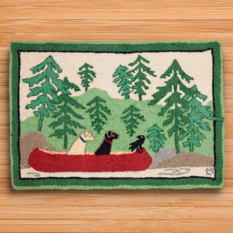 Chandler 4 Corners 2' x 3' Hooked Rug, Dogs Day Out