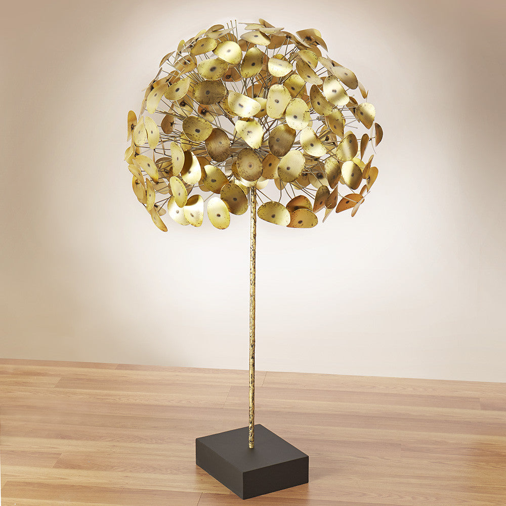 Curtis Jere Brass Tree Sculpture