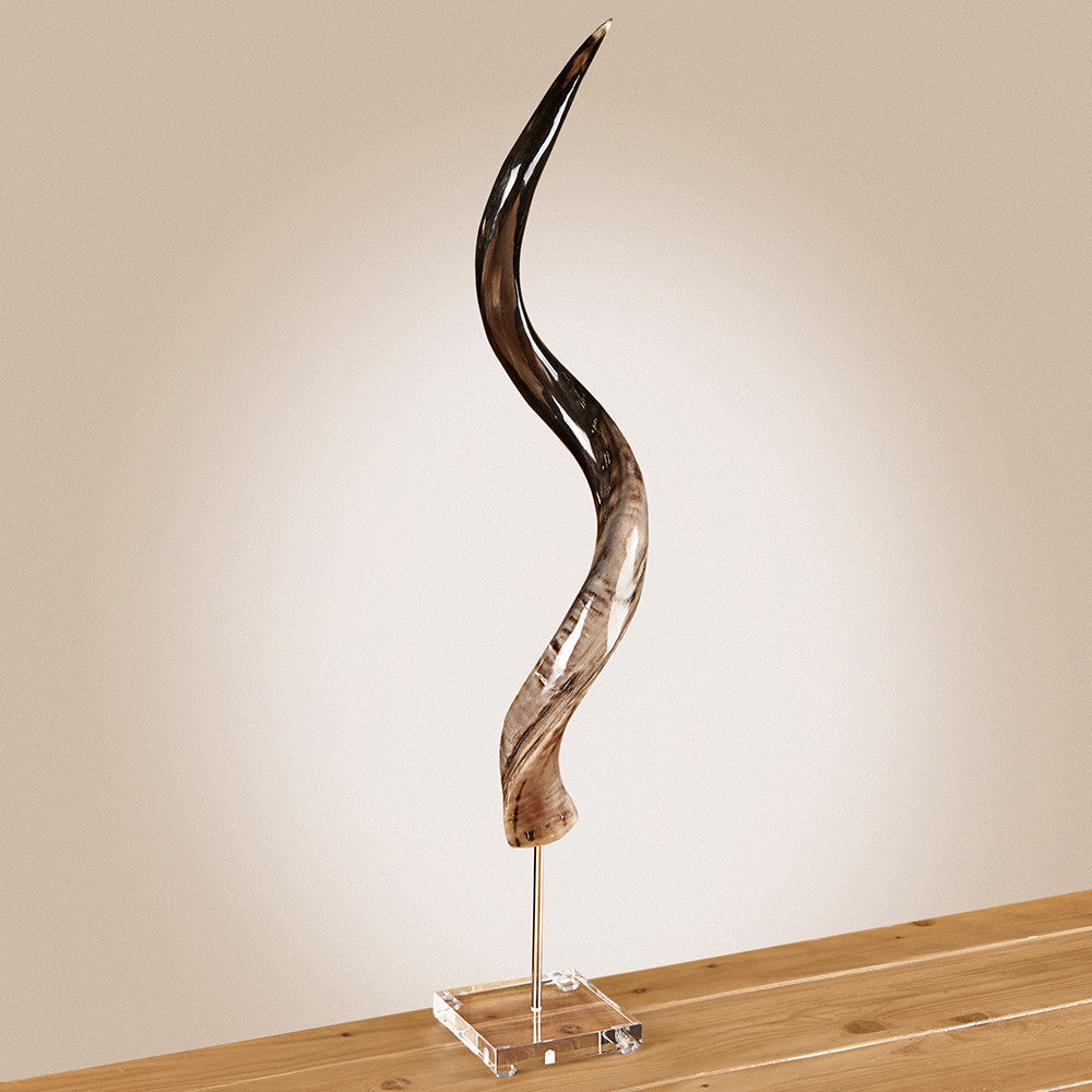 Kudu Horn on Lucite Base