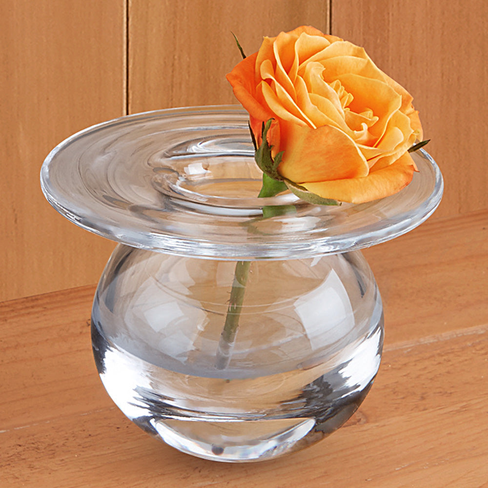 Water Droplet Glass Bud Vase