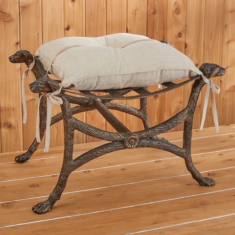 Bow Wow Cast Iron Bench
