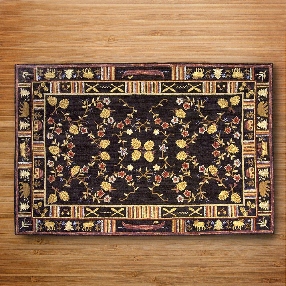 Chandler 4 Corners 6' x 9' Hooked Rug, Night Moose