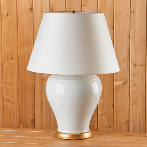 Antique Blanc de Chine Porcelain Lamp