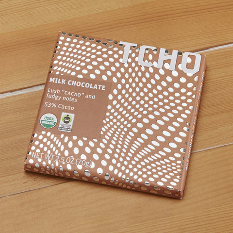 "TCHO Milk Chocolate ""Cacao"" Bar, 2.5 ounces"