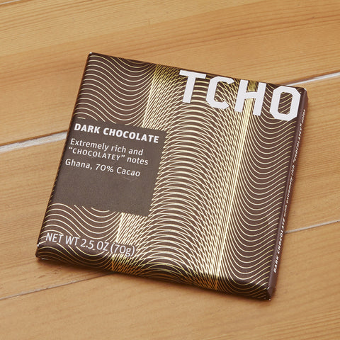 "TCHO Dark Chocolate ""Chocolatey"" Bar, 2.5 ounces"