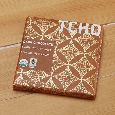 "TCHO Dark Chocolate ""Nutty"" Bar, 2.5 ounces"