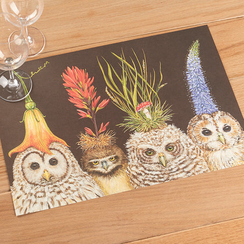 Baby Owls Paper Placemats