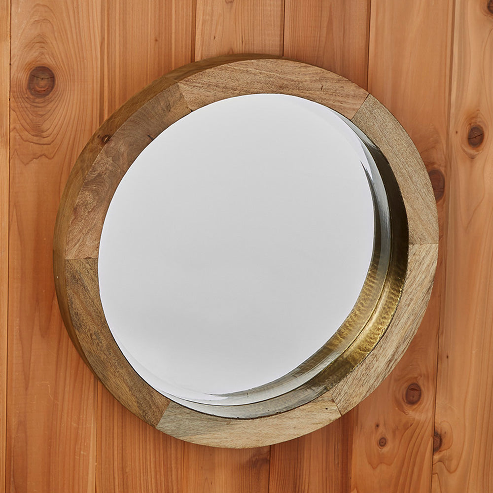 Round Porthole Transitional Mirror