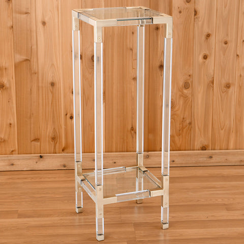 Jacques Lucite Pedestal Table by Jonathan Adler