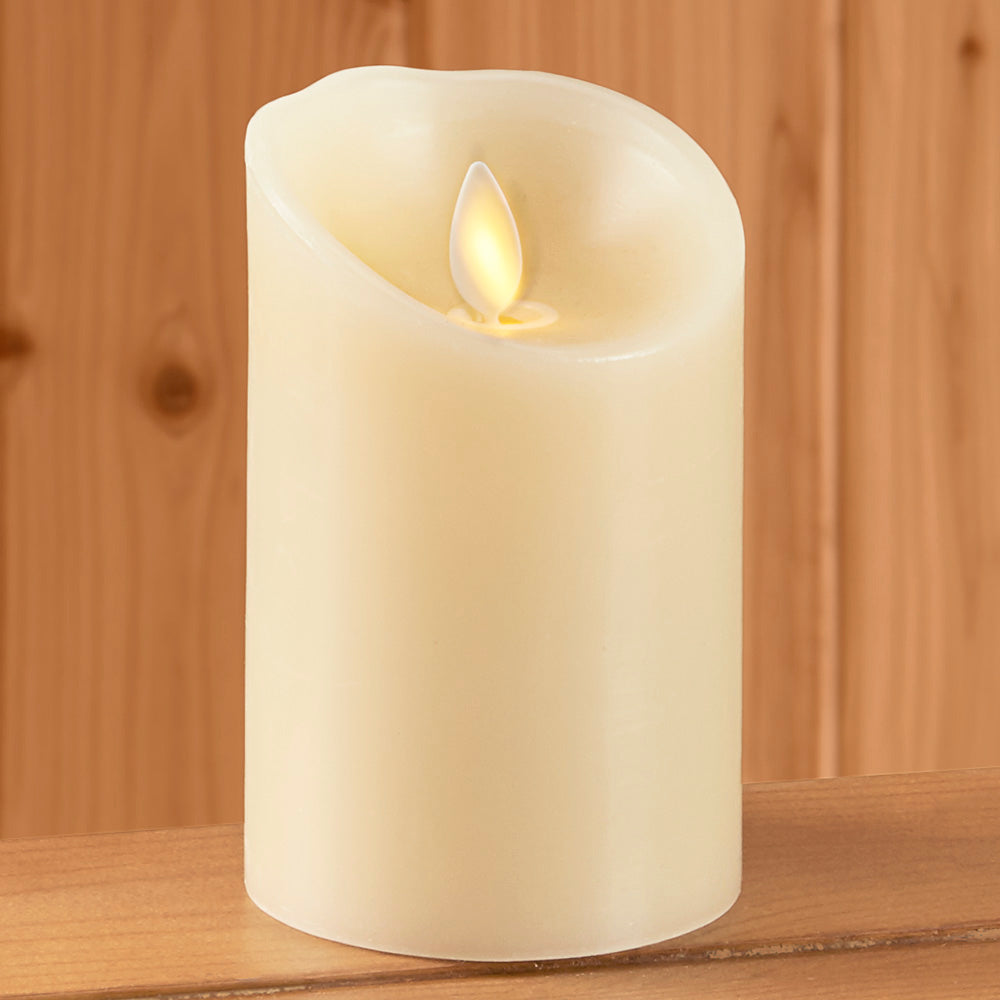 Luminara Vanilla Scented Flameless Pillar Candle, Ivory