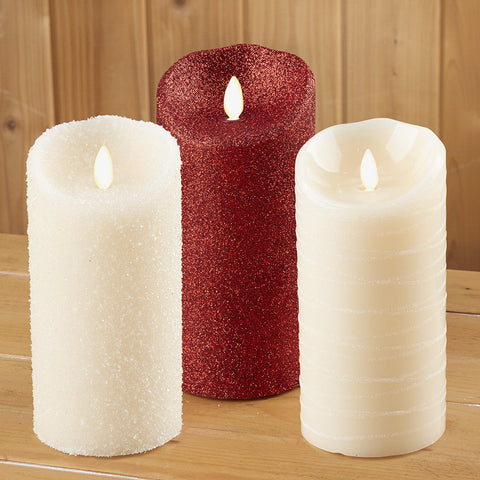 Luminara Flameless Glitter Candle