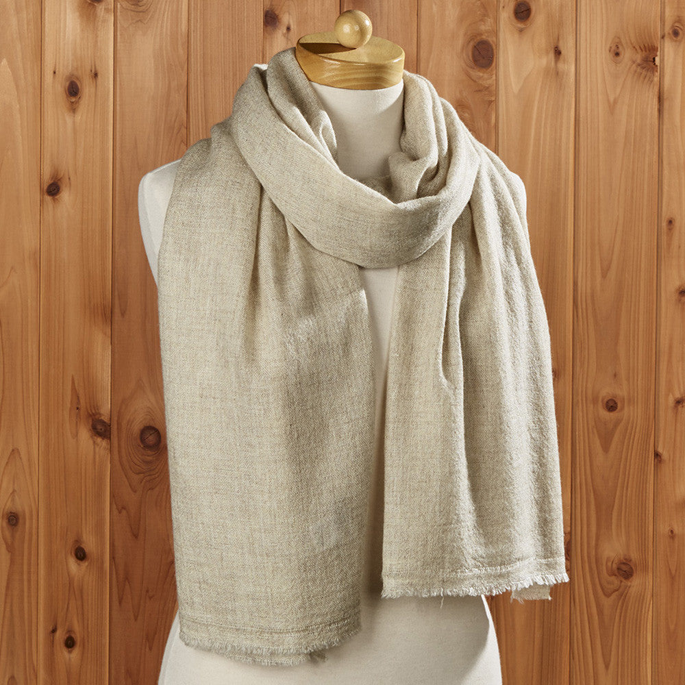 Cashmere Solid Scarf, Natural