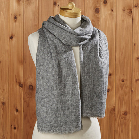 Cashmere Solid Scarf, Light Grey