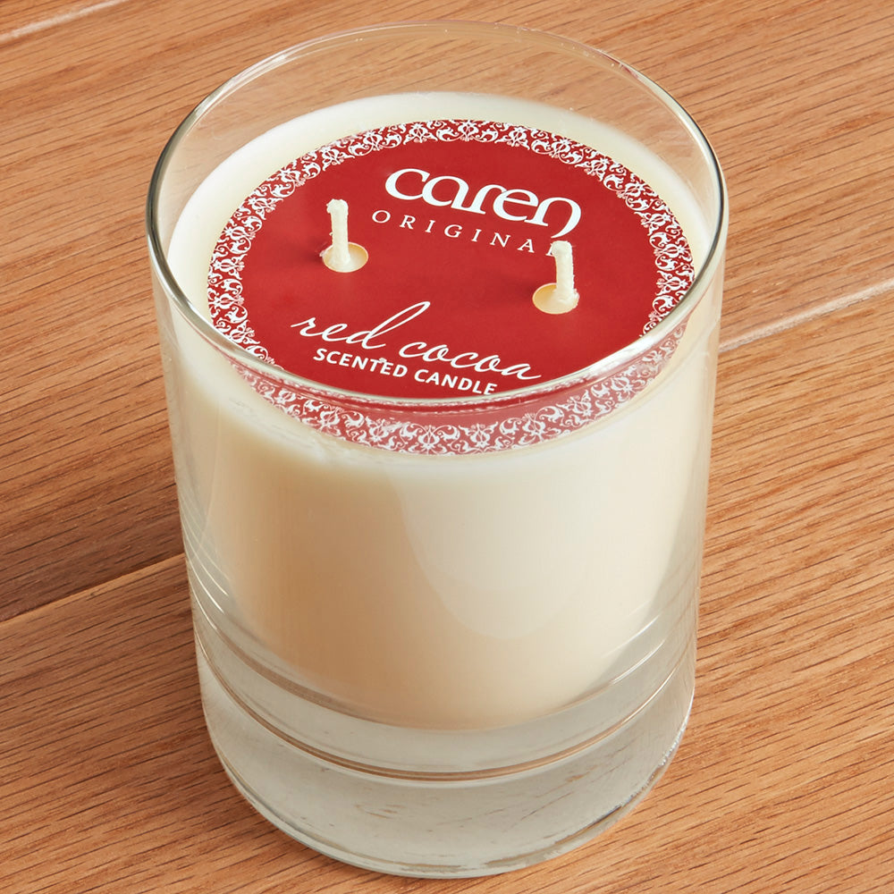Caren Original Double Wick Candle, Red Cocoa