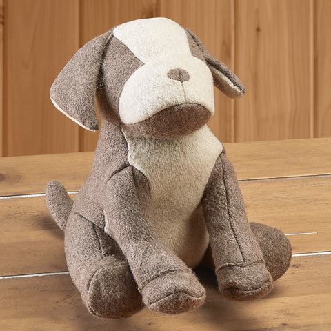 Felt Tan Dog Doorstop