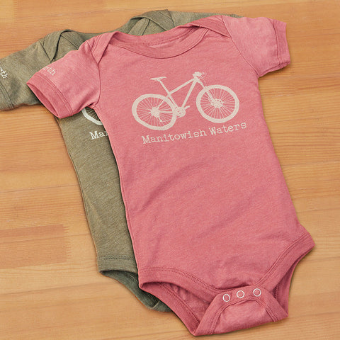 Manitowish Waters Bicycle Infant Onesie