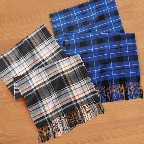 Women's Cozy Plaid Scarf