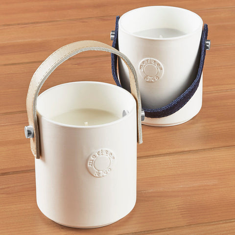 Mer-Sea Luxe Candle with Leather Strap