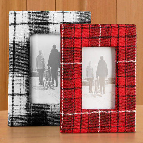 Plaid Flannel Photo Frame